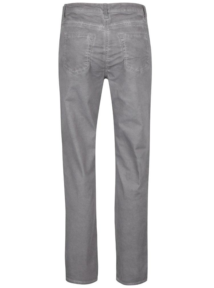 Šedé slim džíny s vyšisovaným efektem Gina Laura