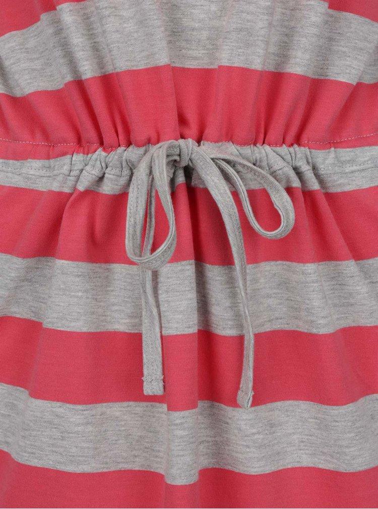 Růžovo-šedé pruhované šaty ONLY May