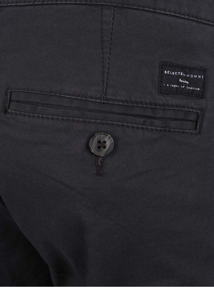 Tmavě šedé kalhoty Selected Homme Three Paris