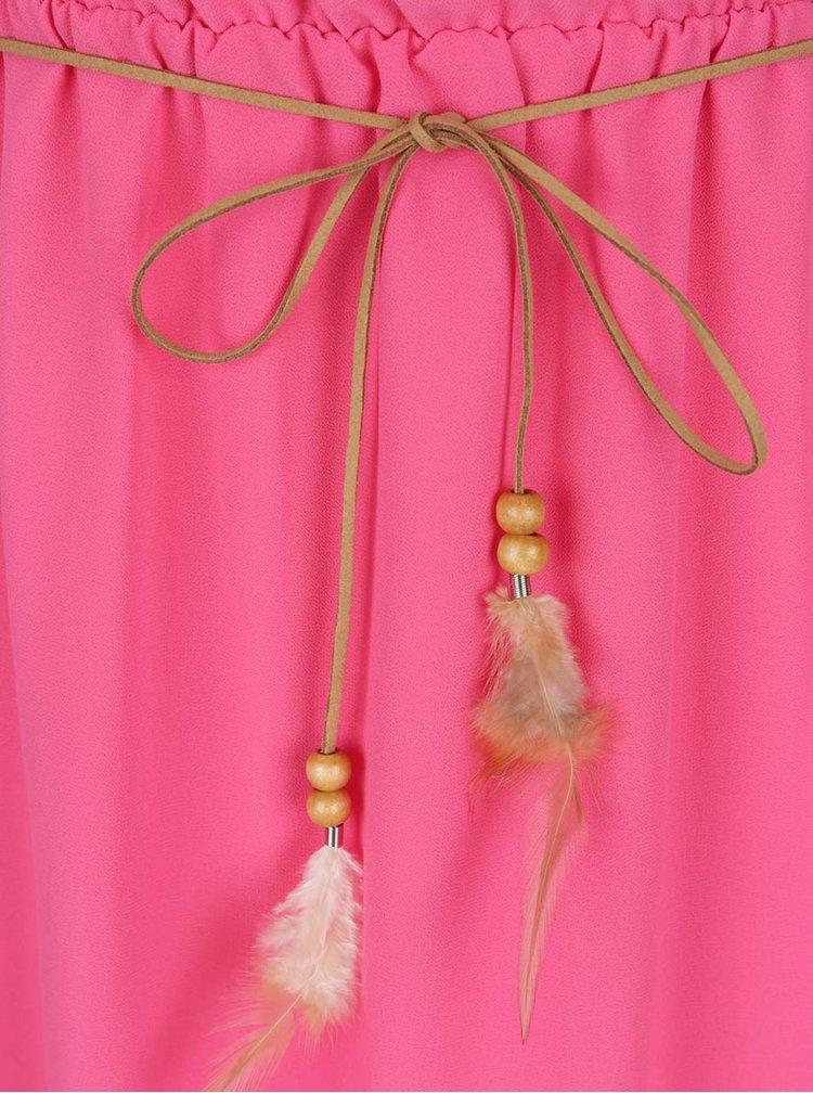 Rochie roz Haily´s Mira curea în talie