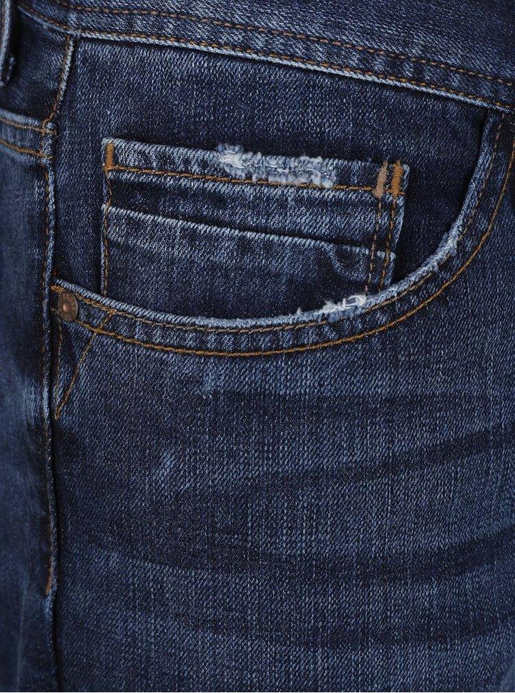 Tmavě modré pánské džíny s vyšisovaným efektem Cross Jeans Antonio