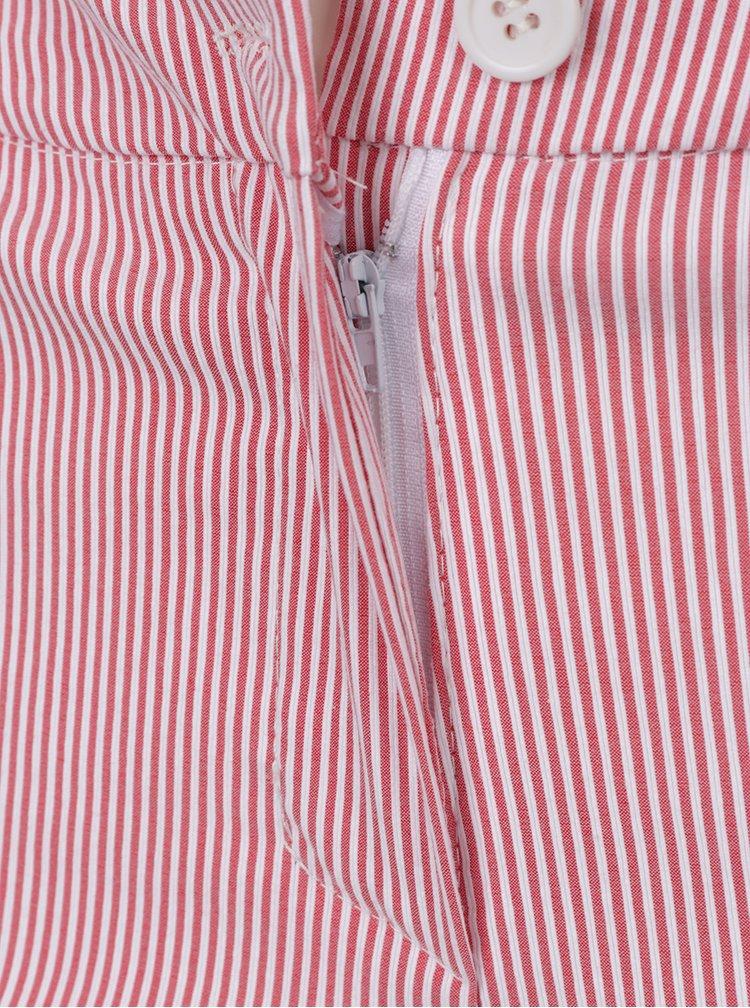 Pantaloni în dungi roșu și crem ZOOT