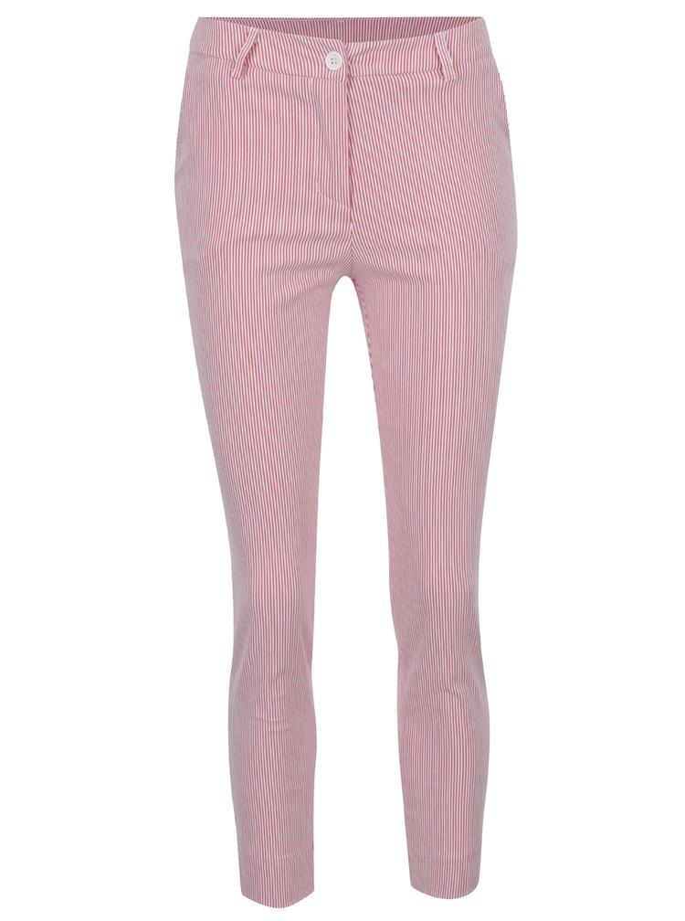 Pantaloni in dungi rosu si crem ZOOT