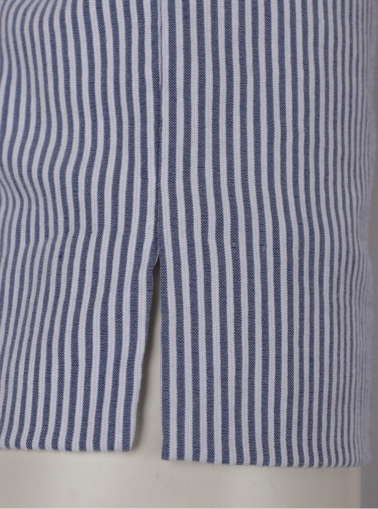 Pantaloni in dungi albastru si crem ZOOT