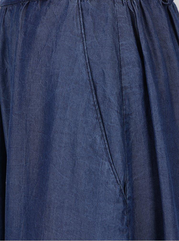 Tmavě modrá džínová midi sukně ZOOT