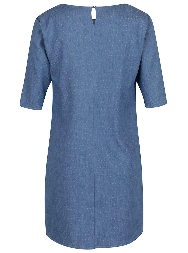 Světle modré puntíkované džínové šaty ZOOT