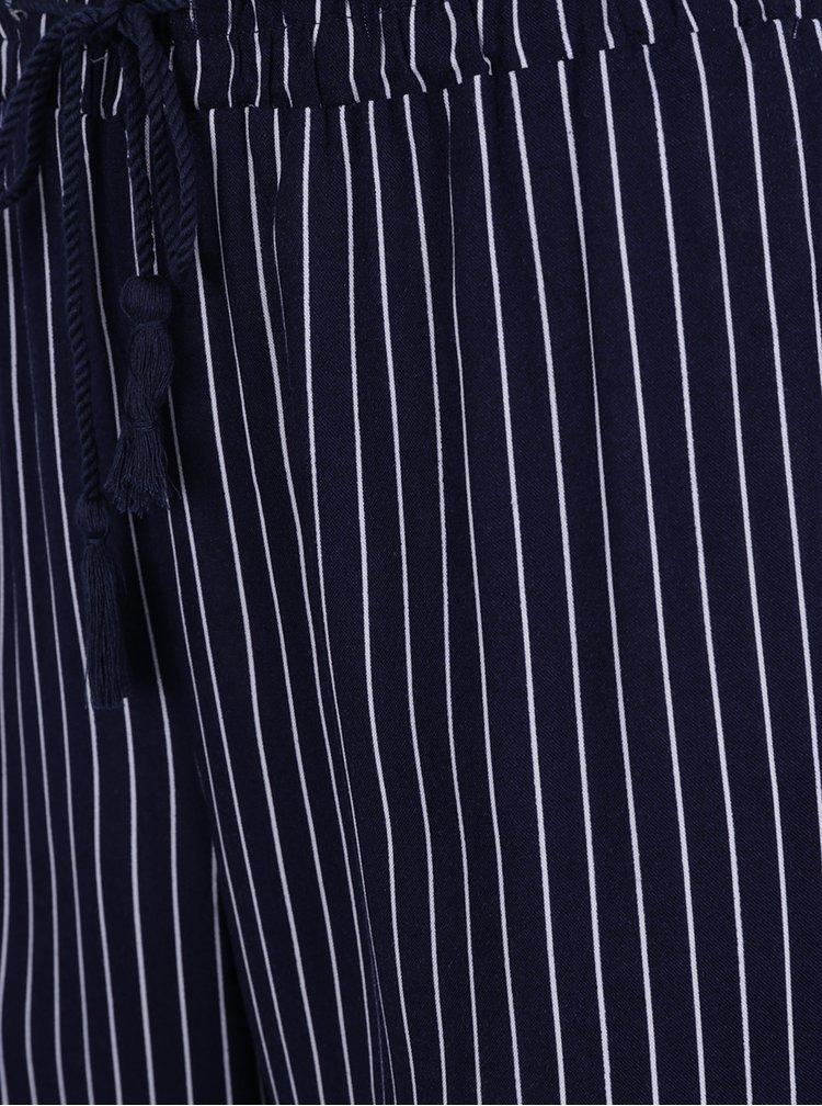 Bílo-modré pruhované volné kalhoty TALLY WEiJL
