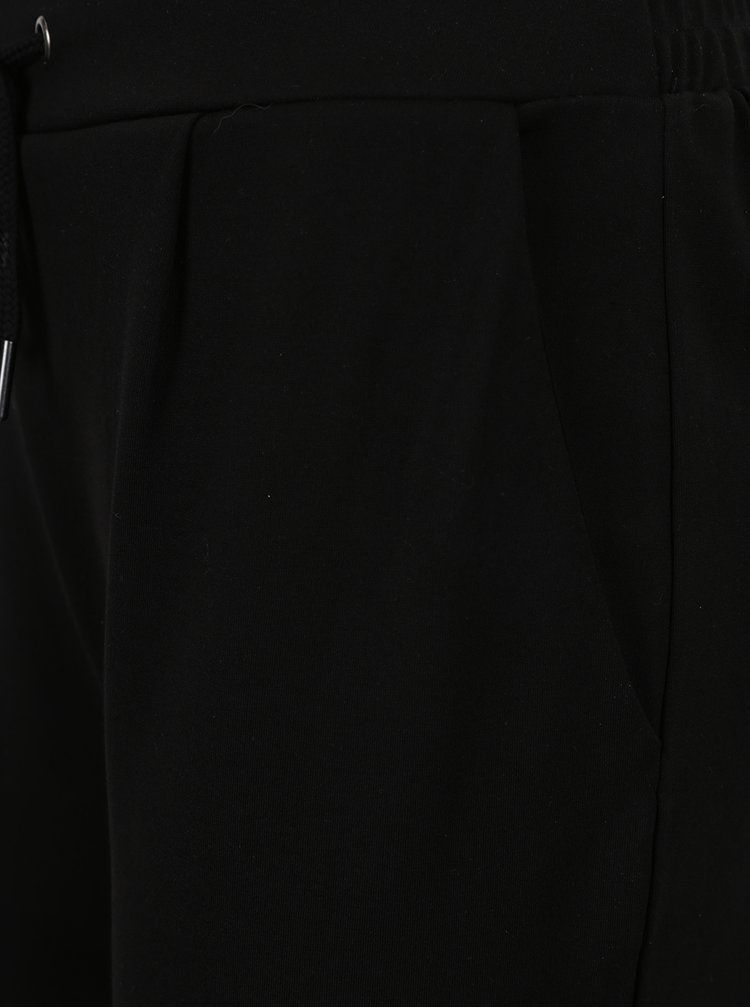 Černé volné kalhoty s pružným pasem VILA Class