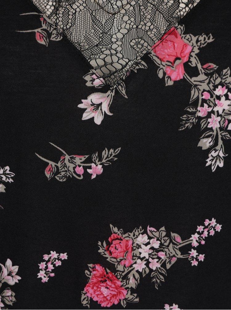 Maiou dantelă negru TALLY WEiJL print floral