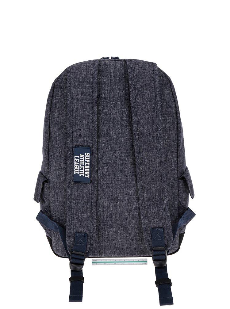 Tmavě modrý žíhaný batoh s potiskem Superdry League Montana