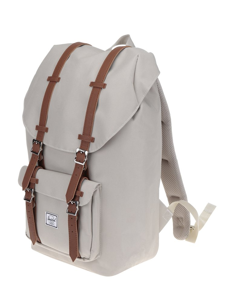 Béžový batoh s hnědými popruhy Herschel Little America 25 l