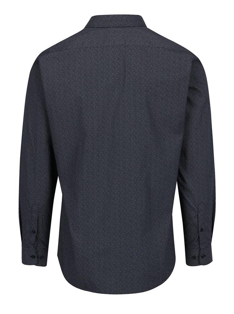 Tmavě modrá vzorovaná formální košile Selected Homme One New