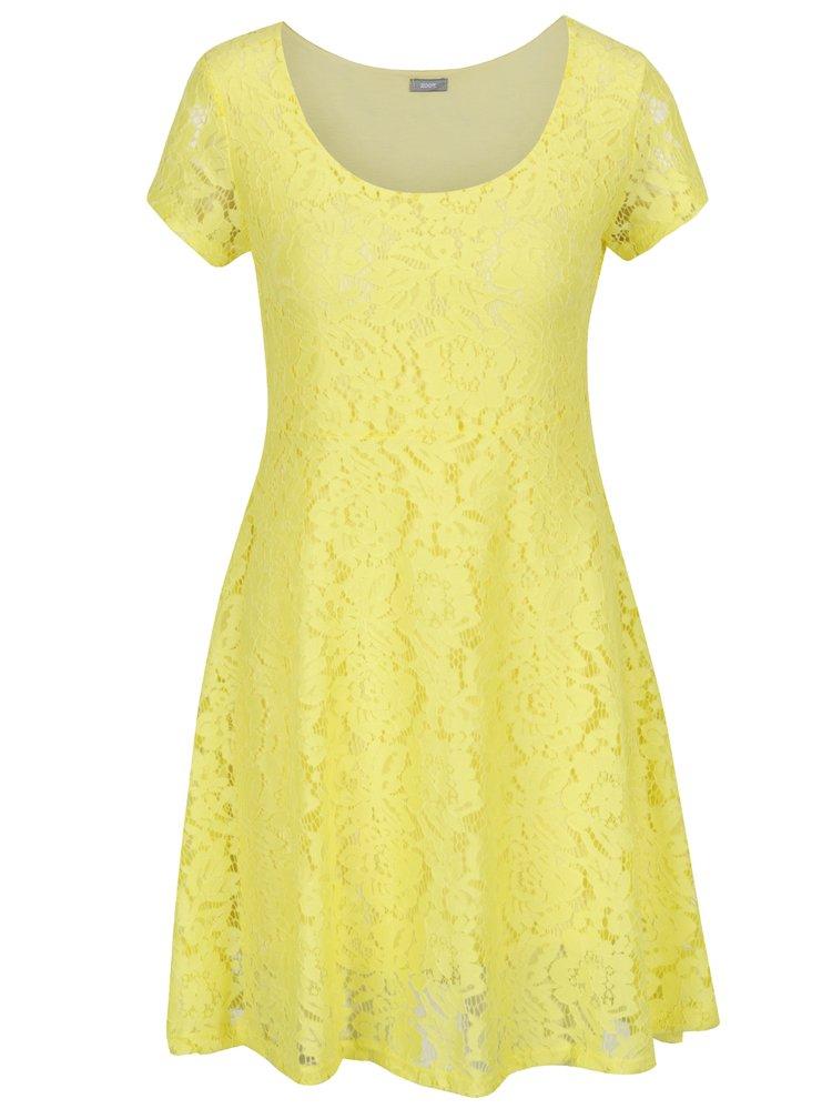 Rochie midi din dantelă galbenă ZOOT