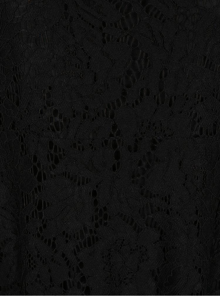 Černé krajkové minišaty ZOOT