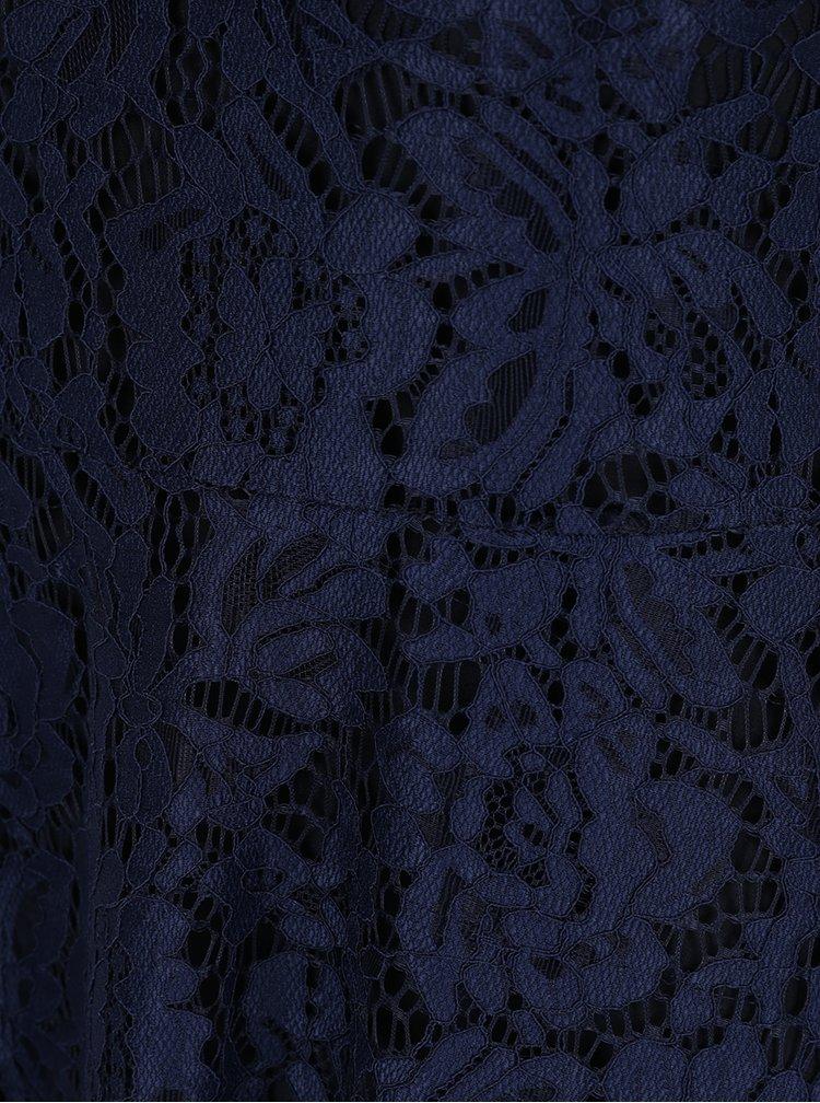 Rochie midi din dantela bleumarin ZOOT