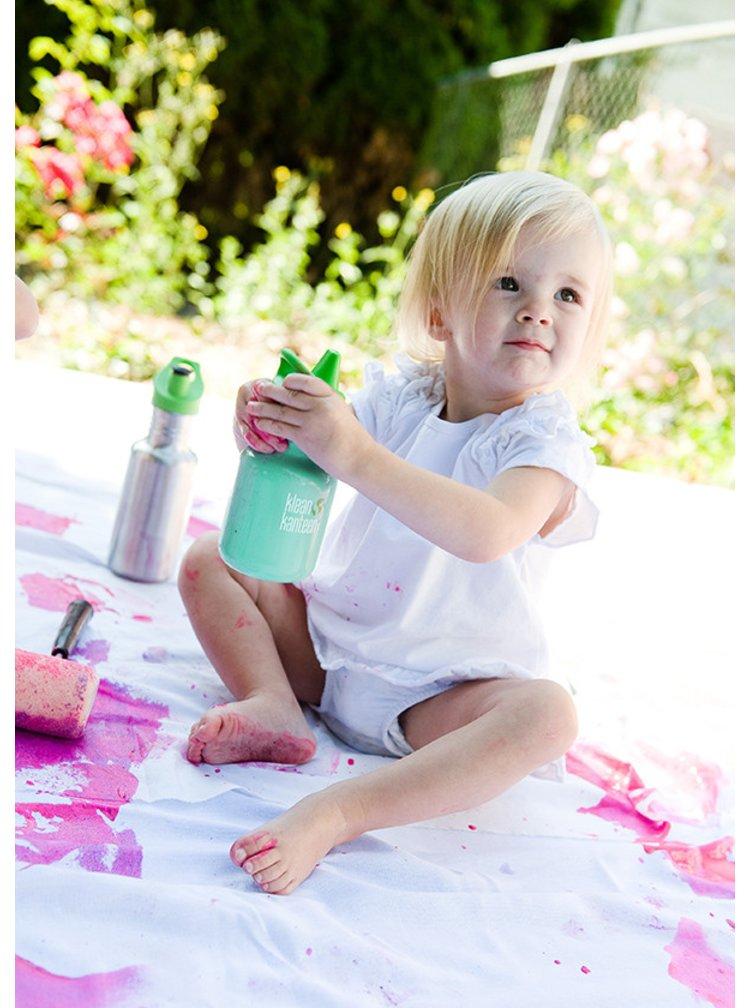 Fialová dětská nerezová lahev Klean Kanteen Kid Classic Sippy 355 ml