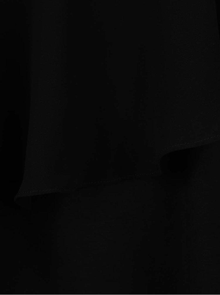 Černá halenka s překládanou přední částí Dorothy Perkins Curve