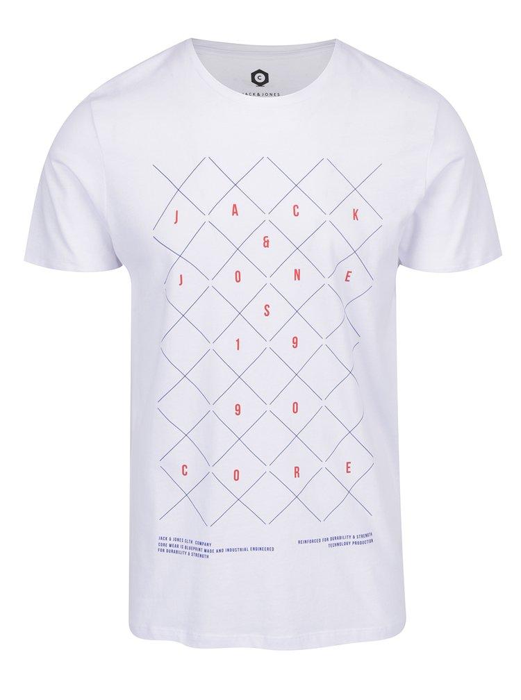 Bílé tričko  s potiskem Jack & Jones Concept
