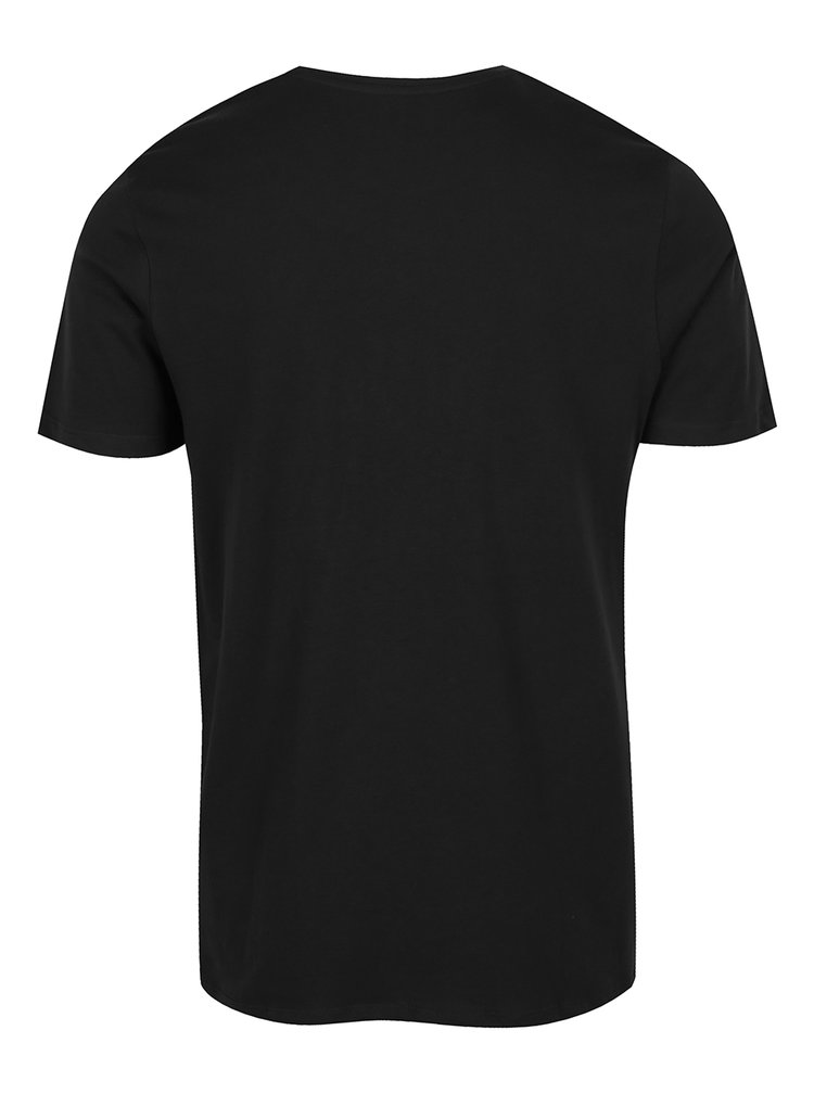 Tricou negru cu print Jack & Jones Concept