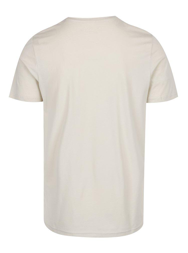 Tricou alb cu print Jack & Jones Hello