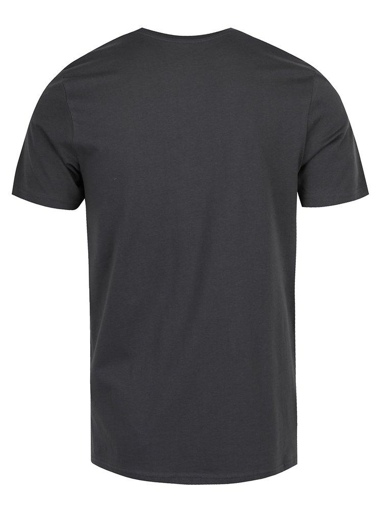 Tmavě šedé triko s potiskem Jack & Jones Hello