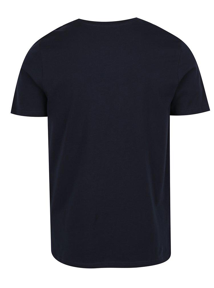 Tmavě modré triko s potiskem Jack & Jones Hello