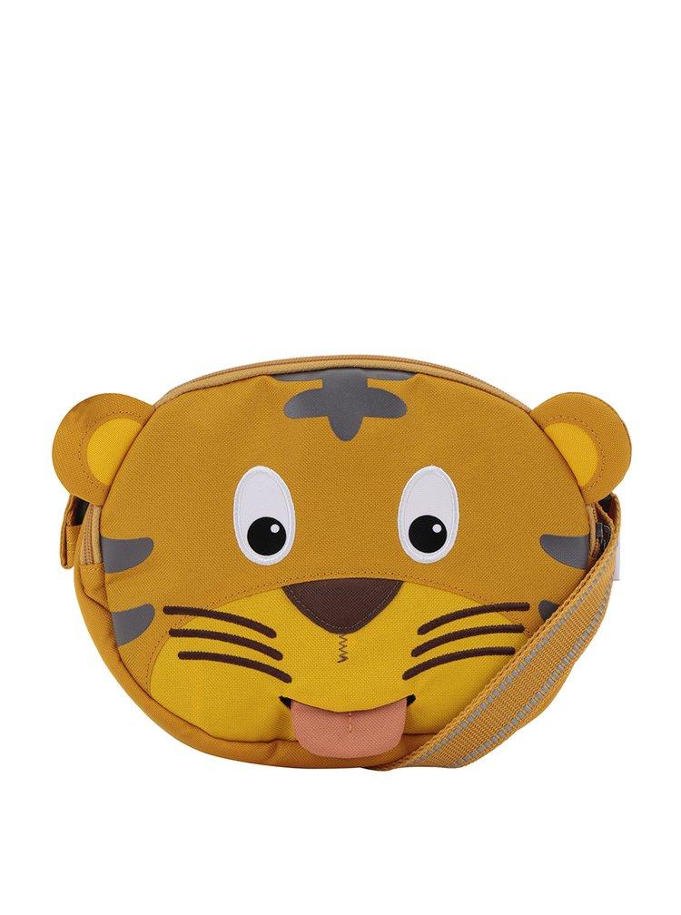 Geantă galbenă crossbody în formă de tigru Affenzahn 2 l