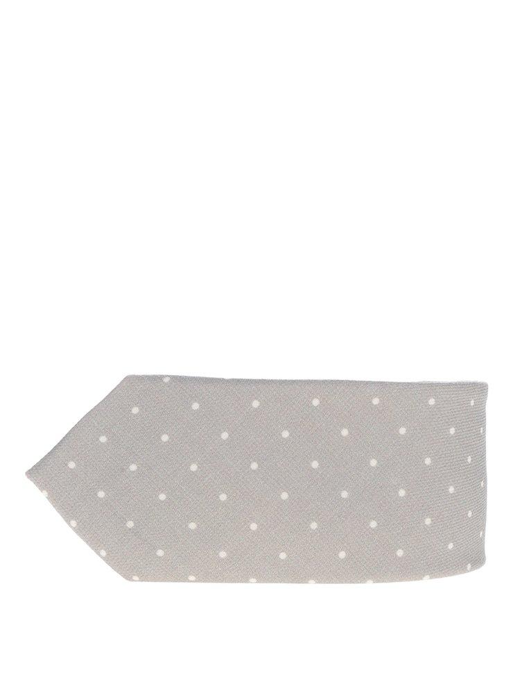 Béžová vlněná kravata s puntíky Jack & Jones Premium Venezuela