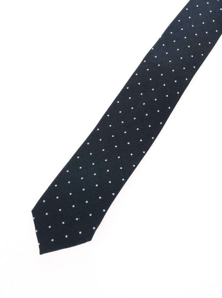 Cravată din lana bleumarin cu buline Jack & Jones Premium Venezuela