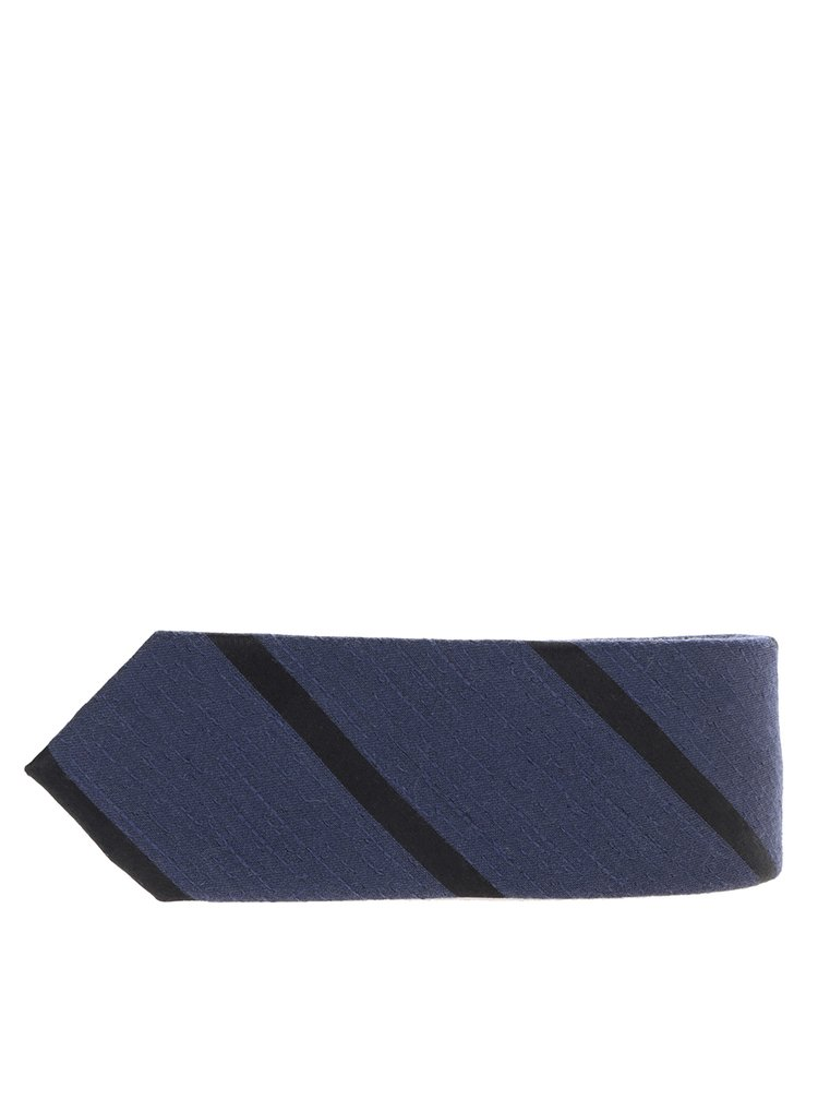 Tmavě modrá vlněná kravata Jack & Jones Premium Costa