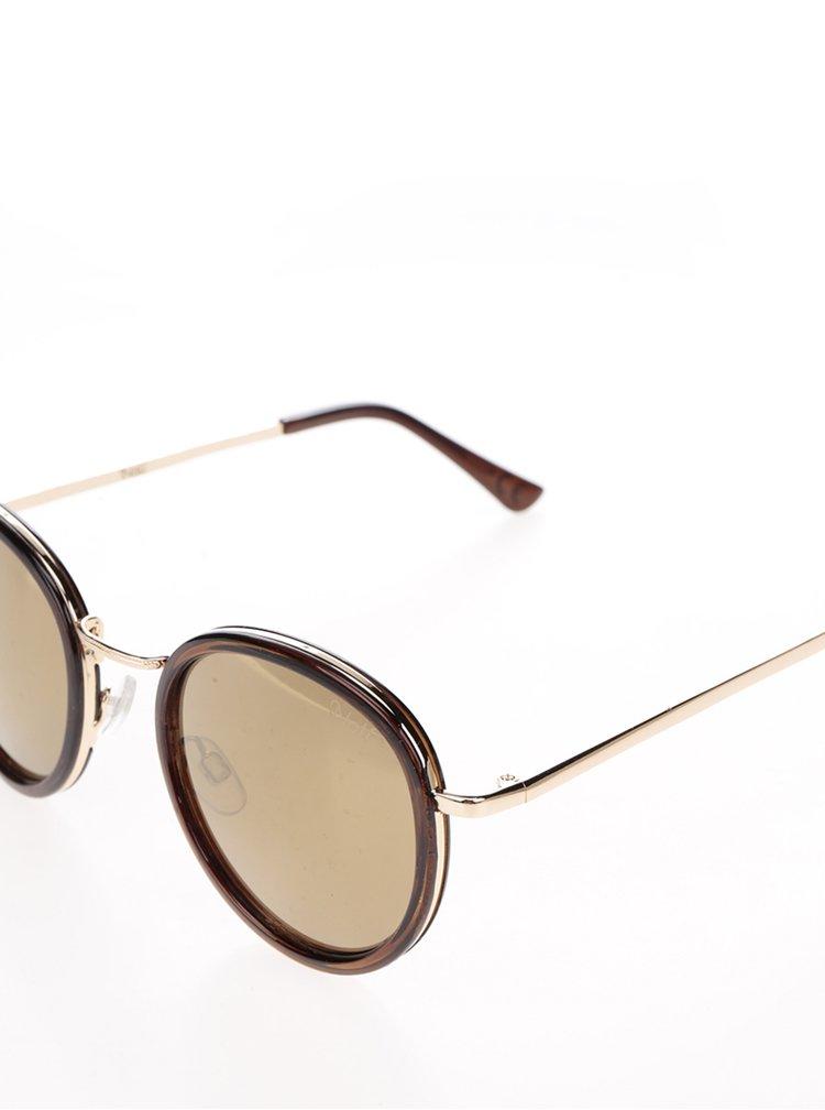 Ochelari de soare maro cu detalii aurii pentru femei Nalí