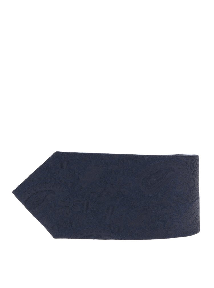 Tmavě modrá hedvábná vzorovaná kravata Jack & Jones Premium Salvador