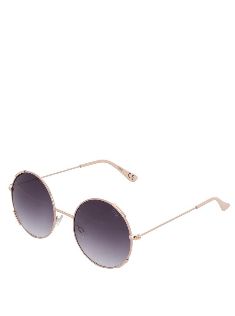 Ochelarii de soare rotunzi roz&auriu pentru femei Nalí