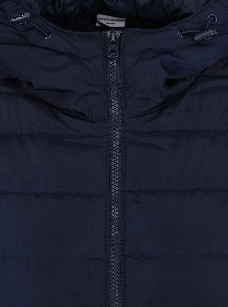 Tmavomodrá prešívaná bunda s kapucňou Jacqueline de Yong Ash