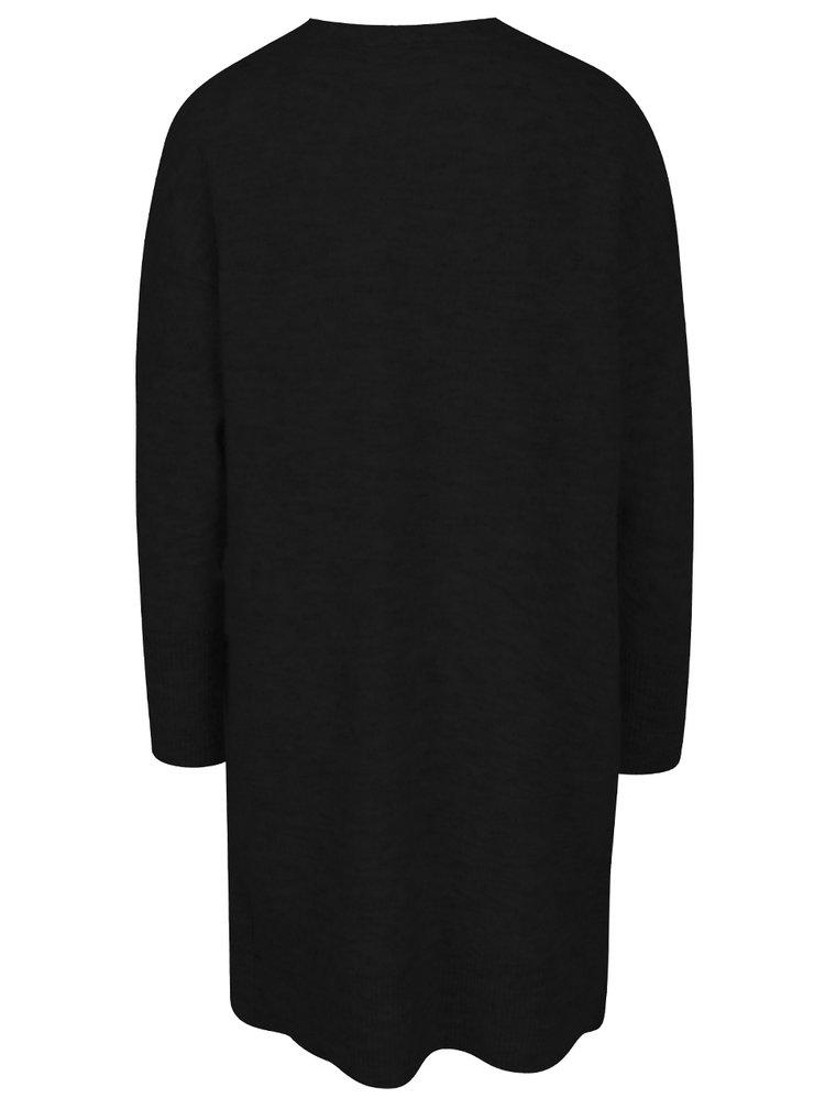 Černý dlouhý vlněný kardigan Selected Femme Livana