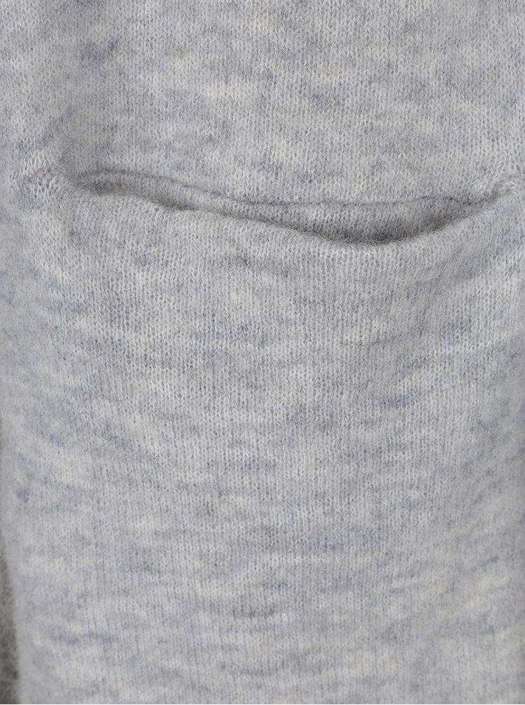 Světle šedý dlouhý vlněný cardigan Selected Femme Livana