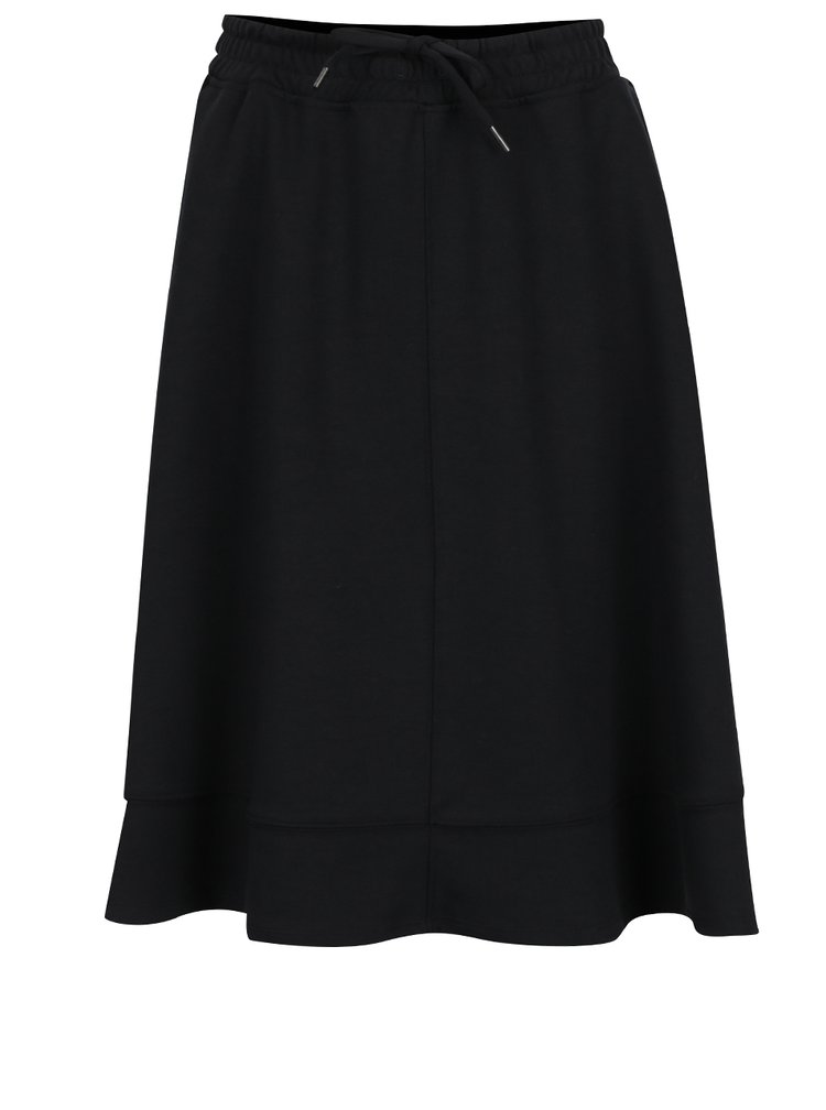 Černá áčková sukně s pružným pasem Selected Femme Lou
