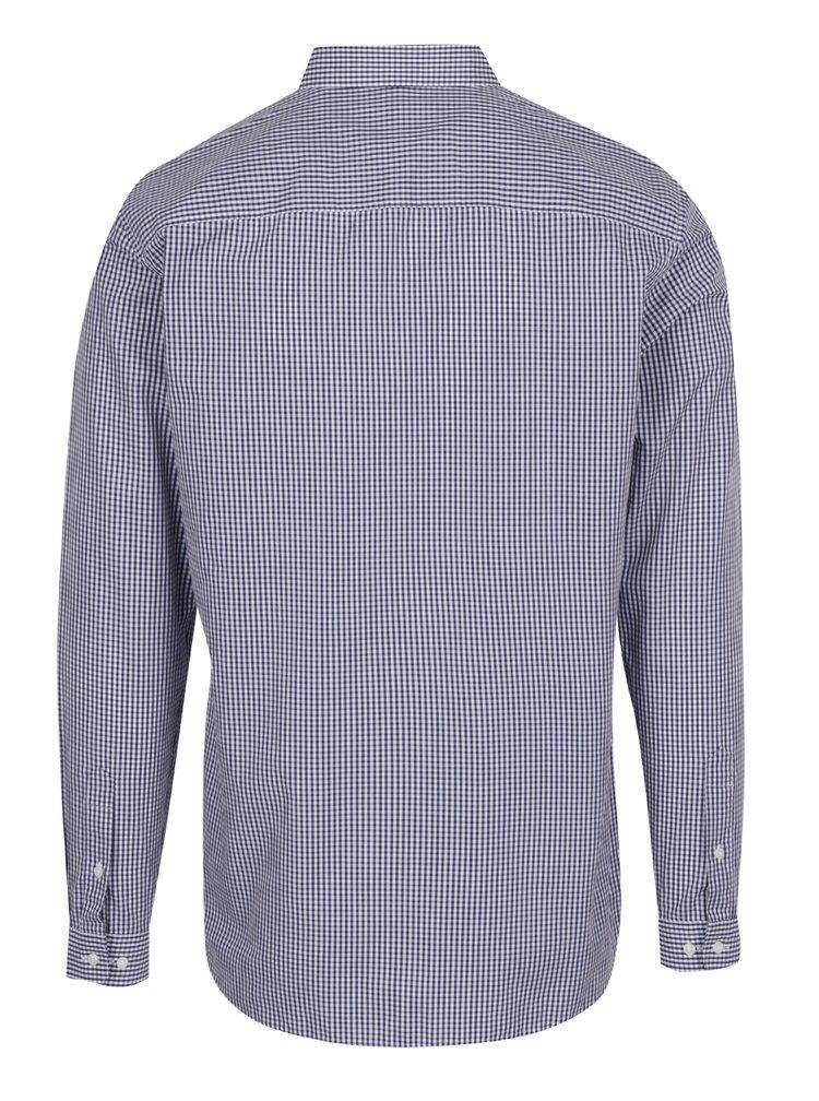 Tmavě modrá formální kostkovaná slim fit košile Jack & Jones Premium Costa Rica