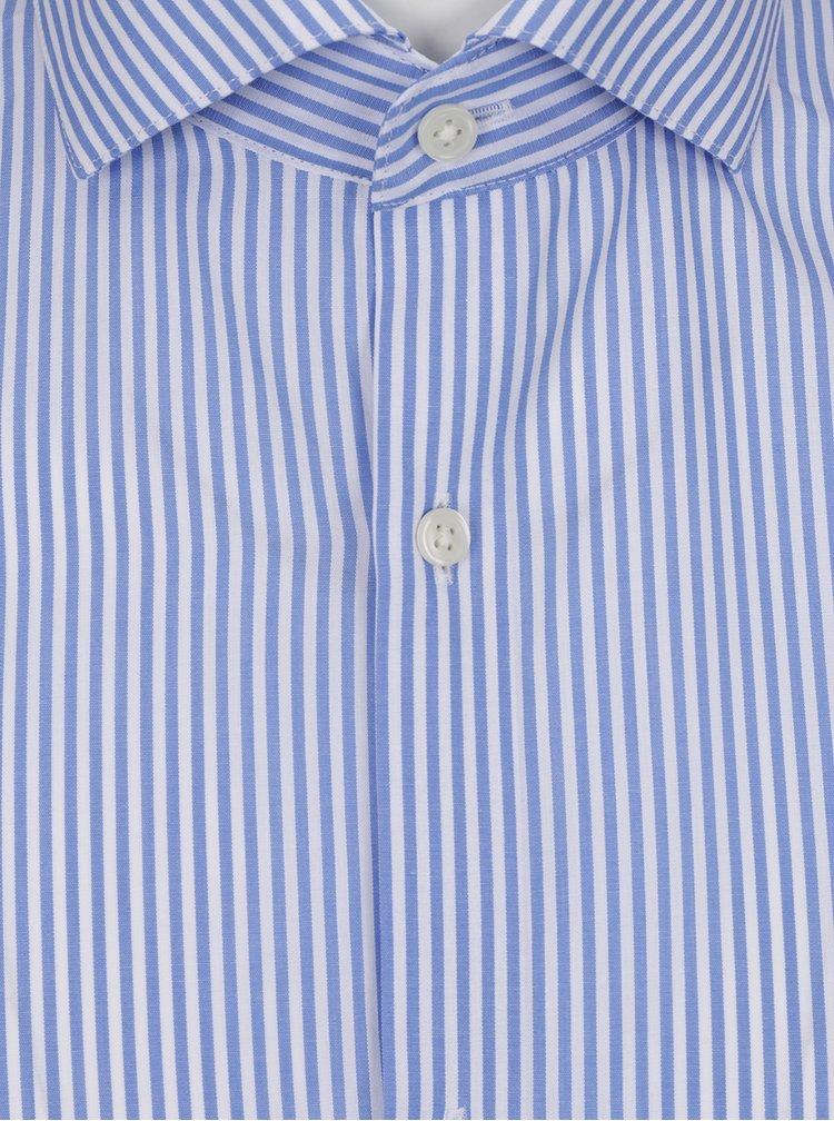 Modrá pruhovaná formální slim fit košile Jack & Jones Premium Costa Rica