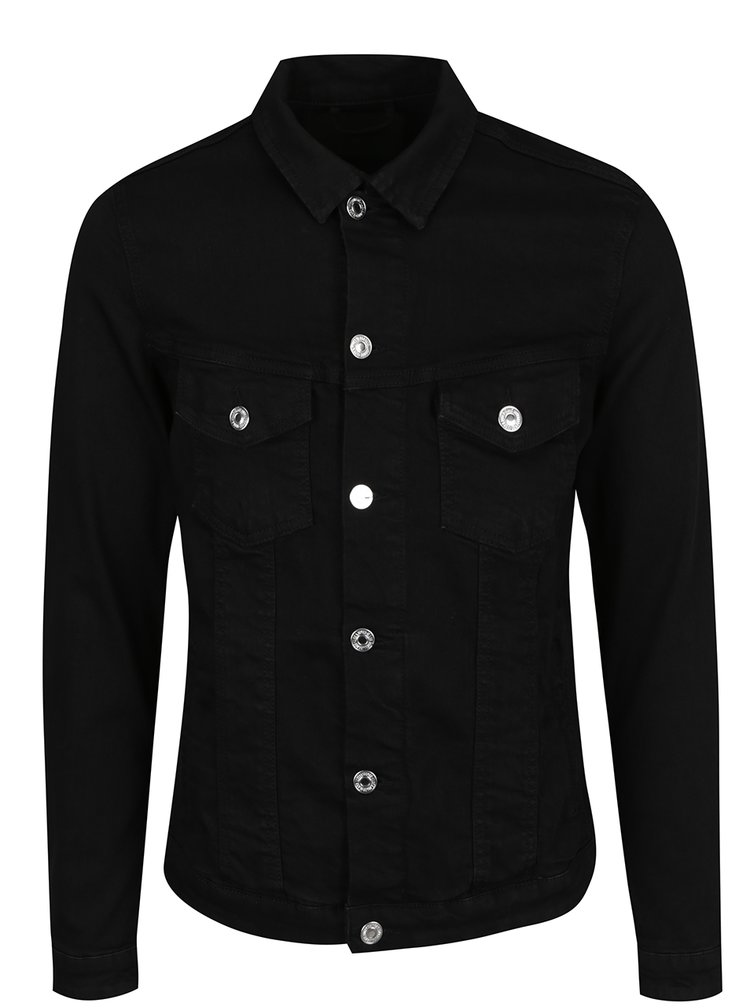 Jacheta neagra din denim Jack & Jones Alvin