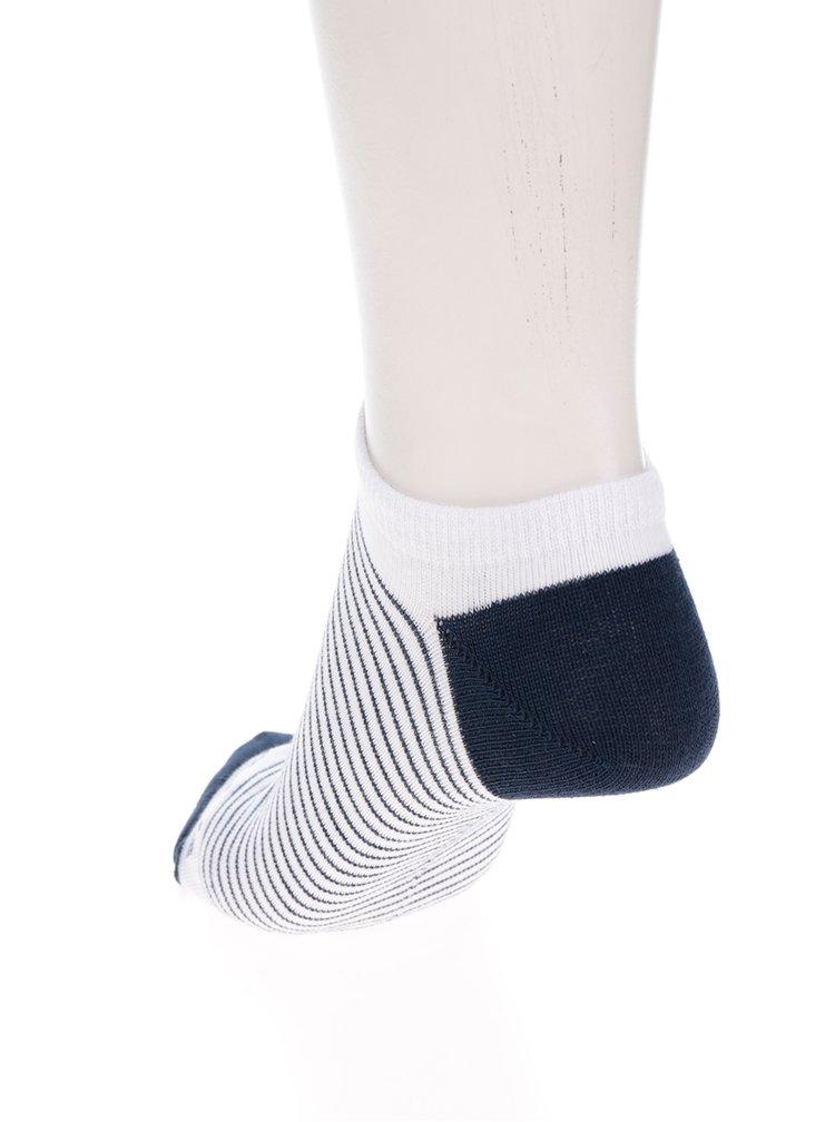 Modro-bílé unisex kotníkové ponožky s pruhy Fusakle Pohoďák prímorský