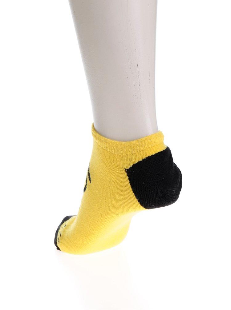 Černo-žluté unisex kotníkové ponožky Fusakle Strašiak