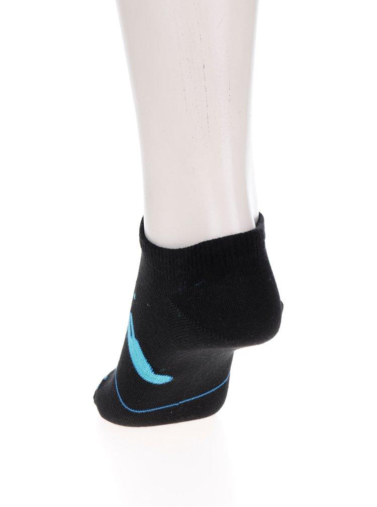 Černé unisex kotníkové ponožky s motivem stanu Fusakle Noc v prérii