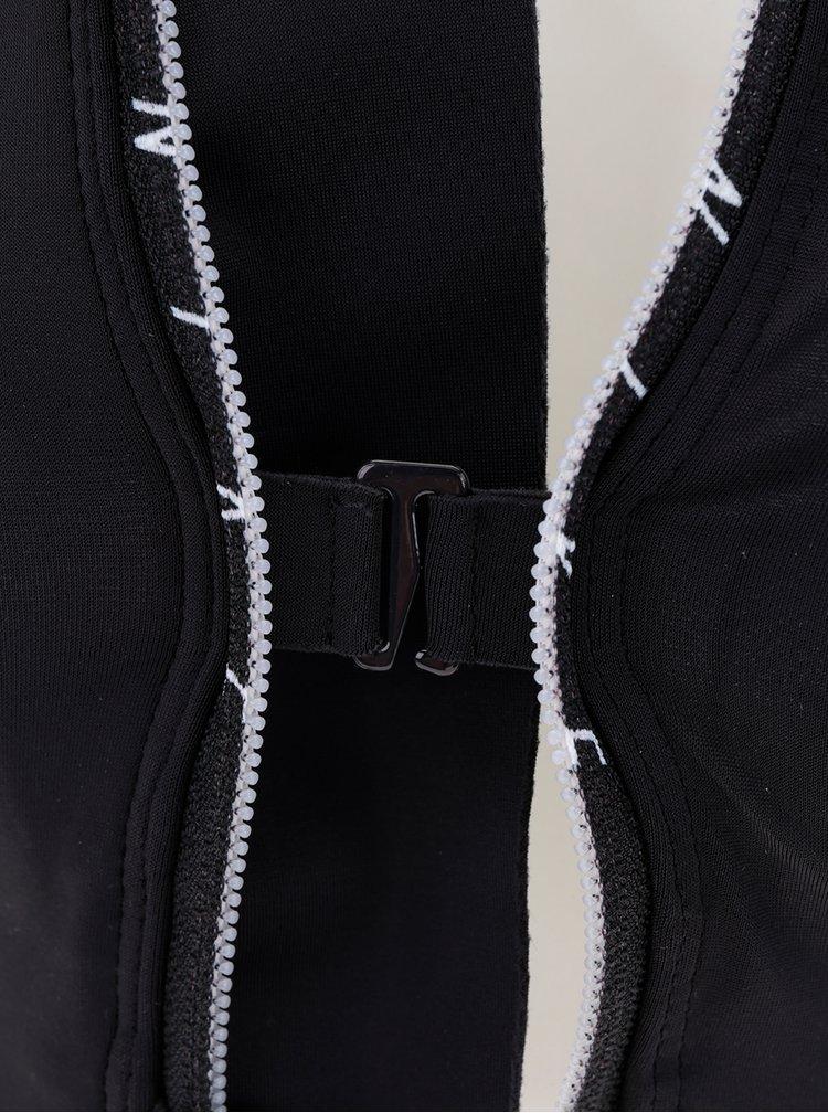 Zeleno-černá sportovní podprsenka na zip Nike Shape zip