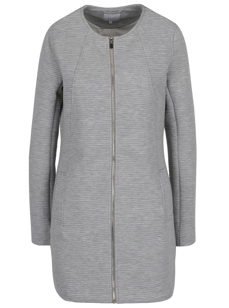 Svetlosivý rebrovaný ľahký kabát VILA Healther