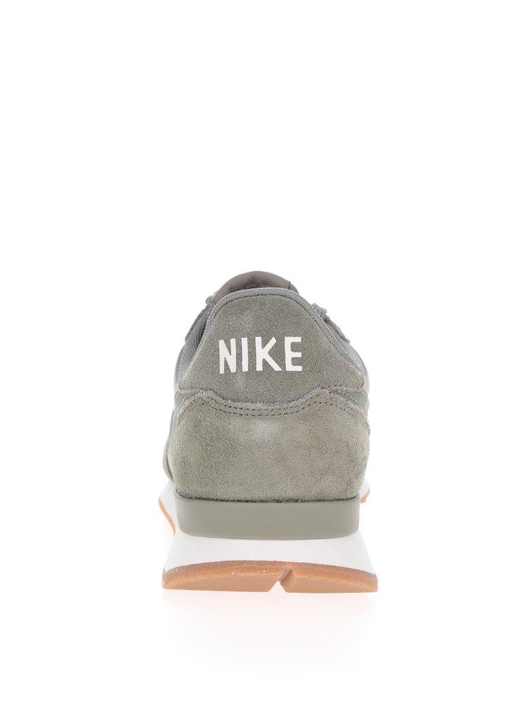 Zelené dámské tenisky se semišovými detaily Nike Internationalist