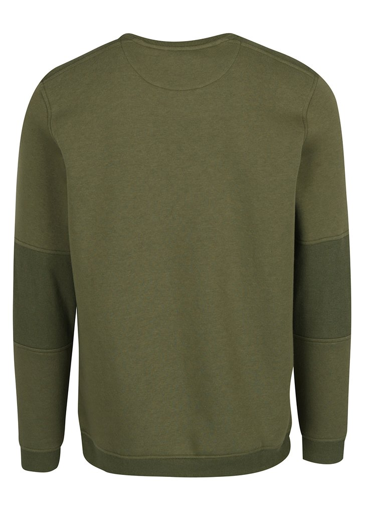 Zelená mikina s náprsní kapsou na zip Jack & Jones Pete