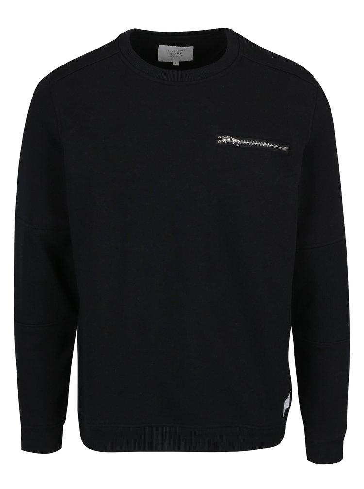 Bluză neagră cu buzunar Jack & Jones Pete