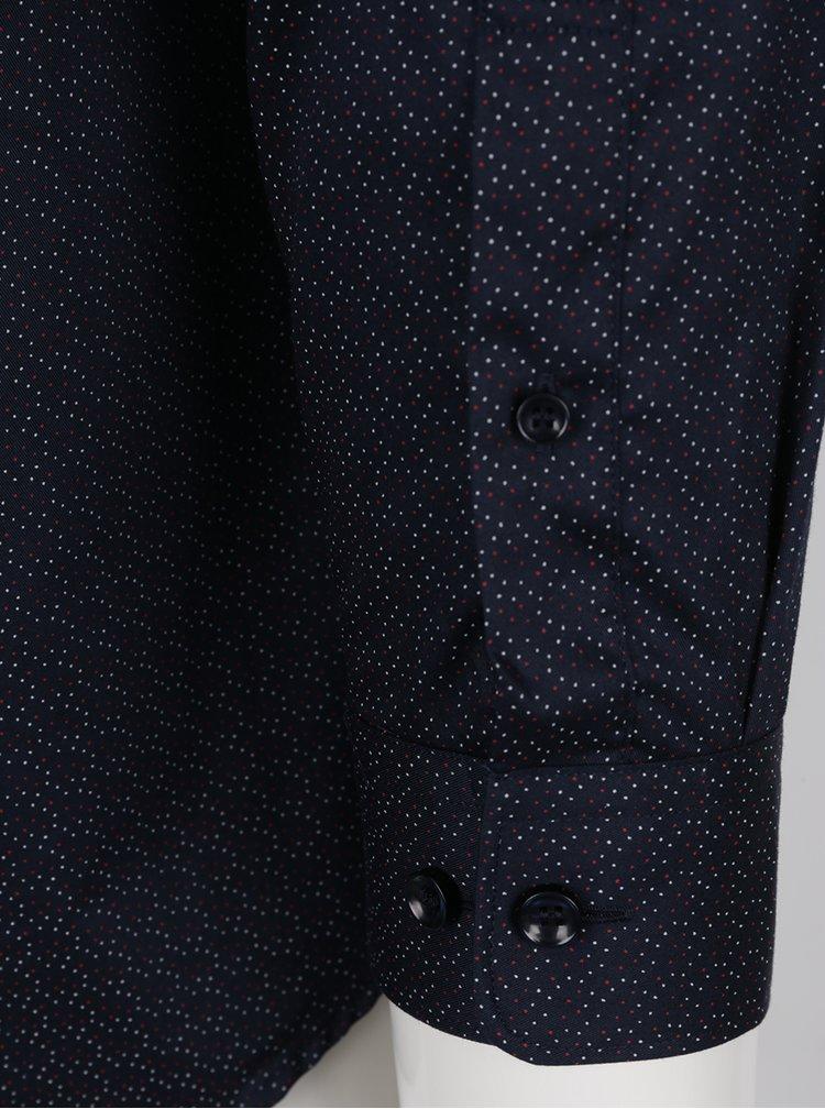 Tmavě modrá vzorovaná regular fit košile Selected Homme Two Sel-ted