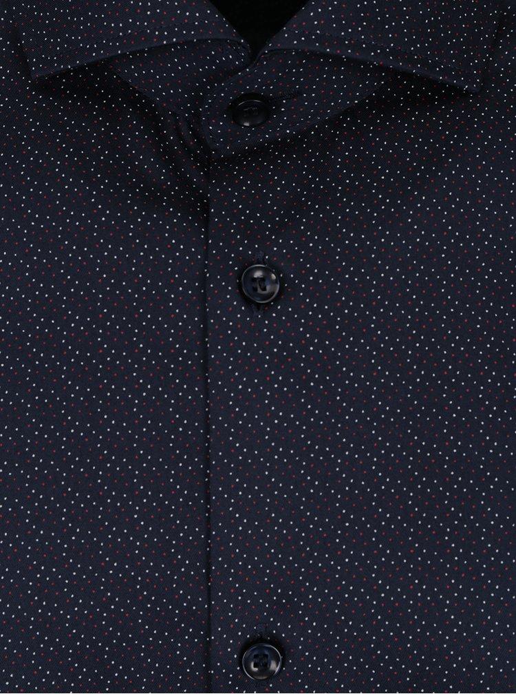 Tmavě modrá formální vzorovaná regular fit košile Selected Homme Two Sel-ted